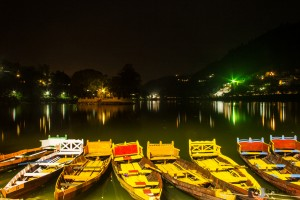 Night view of Nainital