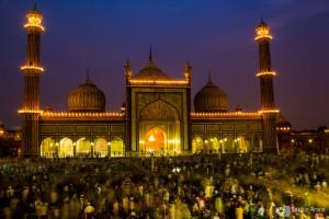 Jama Masjid on Eid, Delhi