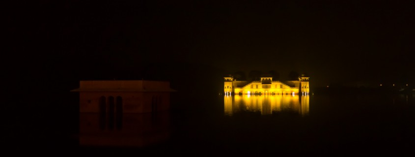 Night view of Jal Mahal, Jaipur