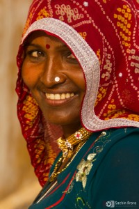 Portrait of a Indian Lady