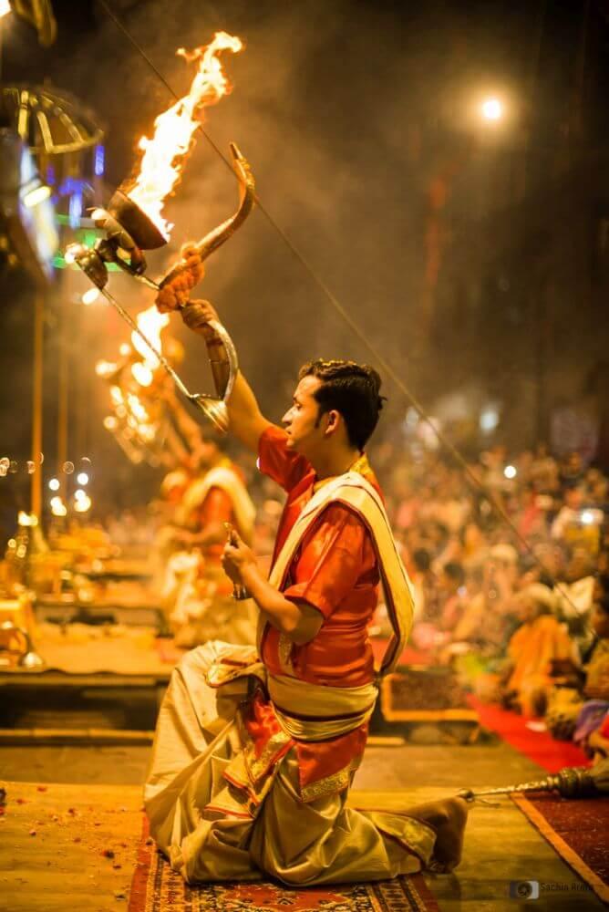 Evening aarti in Varanasi dashashwamedh ghat